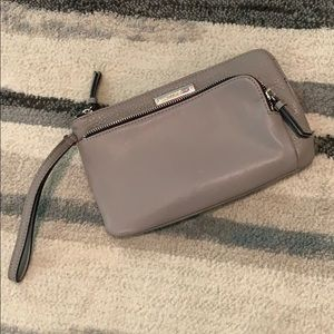 Nine West Gray Faux Leather Wristlet